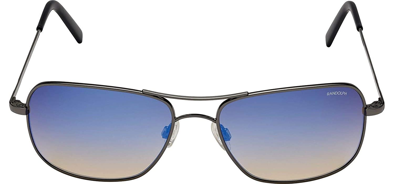 Randolph - Gafas de sol - para hombre Negro Negro/Azul M ...