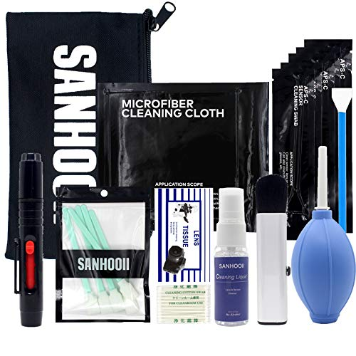 SANHOOII Camera Cleaning Kit for DSLR Cameras Sensor Cleaning and Lens Cleaning with Carry Bag for Canon/Nikon/Pentax APSC-Camera from SANHOOII