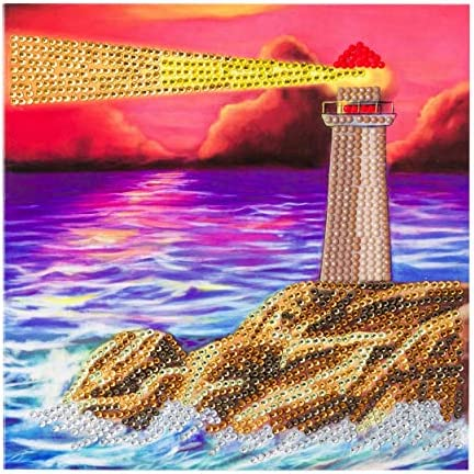 "Craft Buddy Crystal Card Making Kit /""Lighthouse/"""
