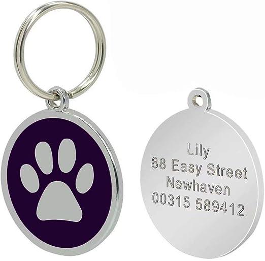 Placa de identidad Berry para perros y gatos con grabado personalizado: Amazon.es: Productos para mascotas