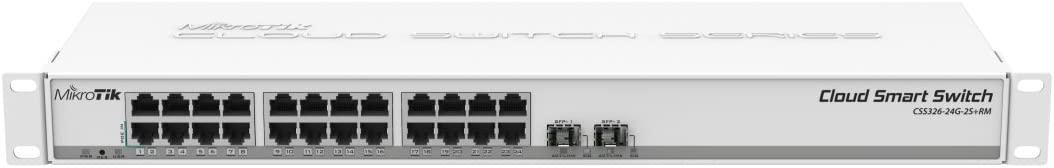 Mikrotik CSS326-24G-2S+RM 24 port Gigabit Ethernet switch with two SFP+ ports