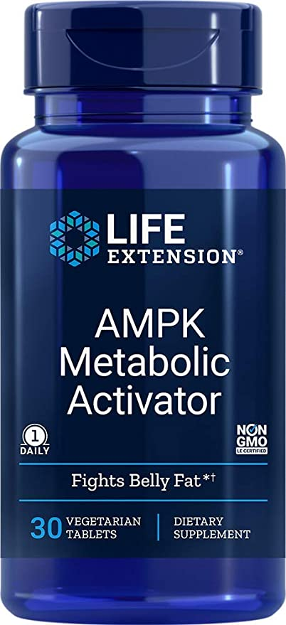 Life Extension Ampk Activador Metabólico 30 Tabletas Vegetarianas 0 165 Libras 02207 30 1 1 Health Personal Care