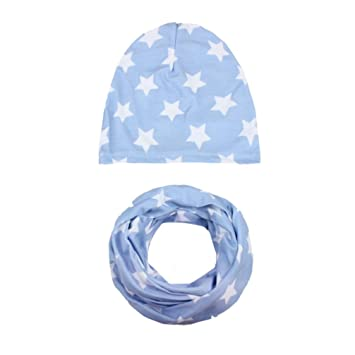 c787a44d081 Amazon.com   Inkach Toddler Baby Boy Girl Slouchy Beanie Hats Kids Winter  Warm Caps with Scarf Collars (H)   Baby