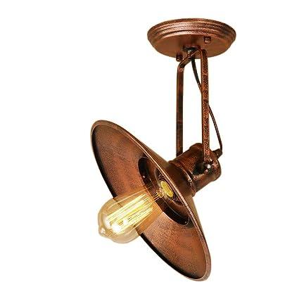 ☞ Luz de techo industrial retro, ángulo ajustable, lámpara ...