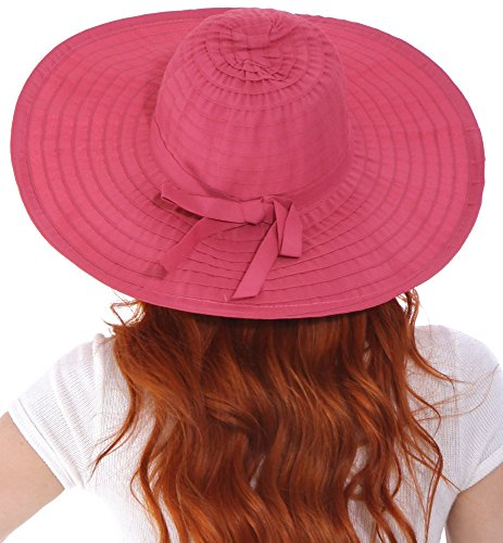c35334ae035 Simplicity Women s Summer UPF 50+ Roll Up Floppy Beach Hat - Import It All