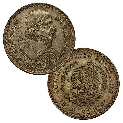 (Mo - Mexico City Mexico's Last Silver Coin Un Peso 1957-1967 One 1 Peso Extra Fine)