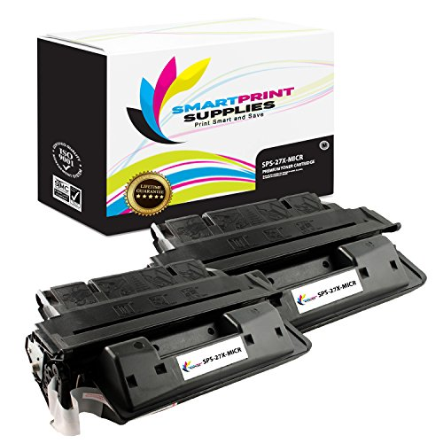 Smart Print Supplies Compatible 27X C4127X MICR Black High Yield Toner Cartridge Replacement for HP Laserjet 4000 4050 Series Printers (10,000 Pages) - 2 Pack 4000 4050 Series Black