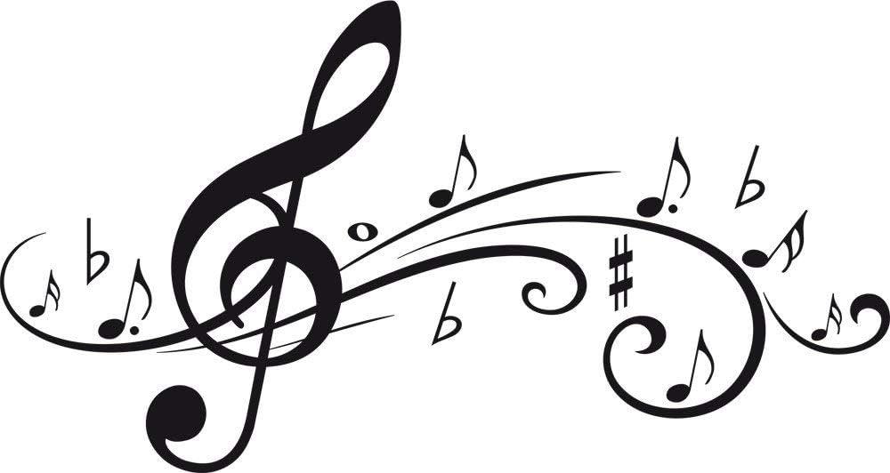 35x35 cm 60x60 cm notes,. Sticker decoration xxl board music clef