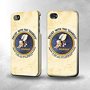 Apple iPhone 5 / 5S Case - The Best 3D Full Wrap iPhone Case - US Navy Seabees