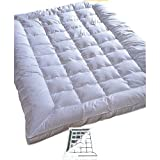 Highland Feather Down Touch Feather Mattress Topper - King_White