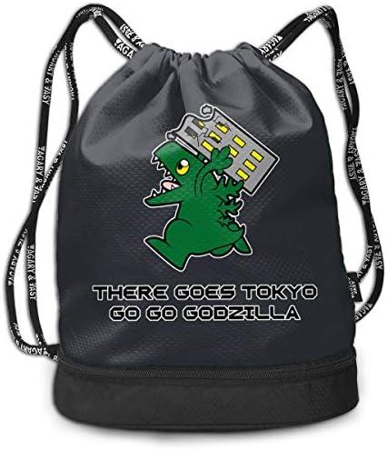 巾着バックパック Bundle Backpack スポーツナップサック 愛らしい ユニーク 萌え 恐竜 体操服収納 ジムサック 濡れ物用 内ポケット付 巾着袋 収納バッグ 大容量 乾湿分離 シューズ収納 男女兼用 39*41*17.5cm