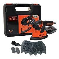 BLACK+DECKER KA2500K-XE 120W Mouse Detail Sander with Kit Box & 9 Accessories