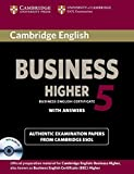 Cambridge English Business 5 Higher Self-study Pack (Student's Book with Answers and Audio CD) (BEC Practice Tests)