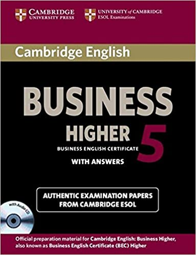 Cambridge English Business 5 Higher Self-study Pack (student's Book With Answers And Audio Cd) por Cambridge Esol epub