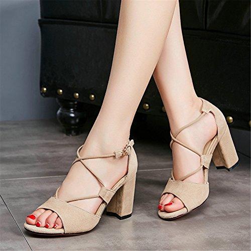 Shoes Black Toe Suede Women 34 Shoes Square Peep Pumps 42 Logan Ankle Strap Jerald Size WtBH6IqH
