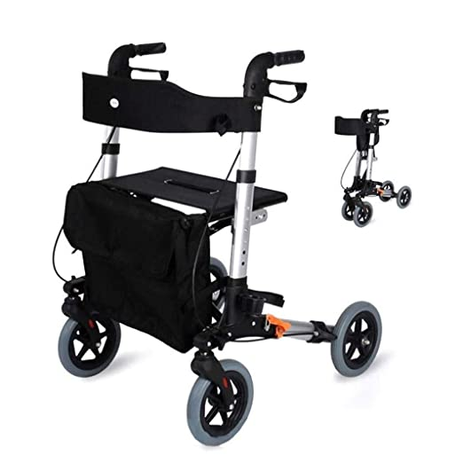 TF Andador para Ancianos De 4 Ruedas | Aluminio Ultraligero ...