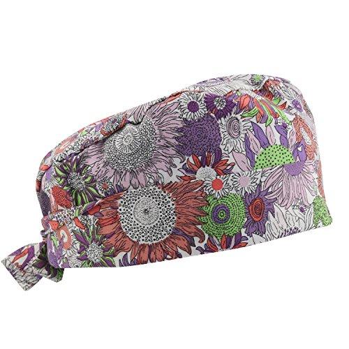 (GUOER Scrub Hat Calabash Hat Scrub Cap Calabash Scrub Hat One Size Multiple Colors (Orange))