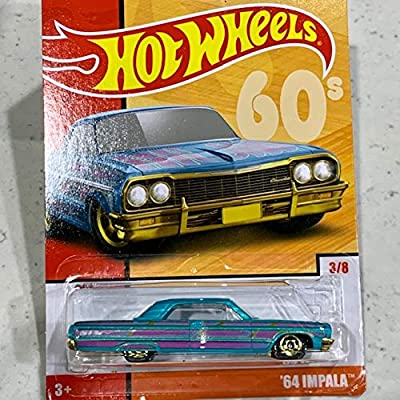 Hot Wheels 2020 64 Impala 3/8 Throwback Series 60's: Toys & Games