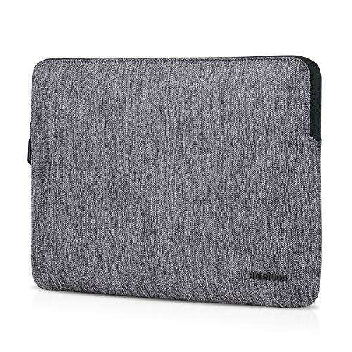 SHIELDON Laptop Sleeve Bag Cover Case with Pocket Compatible with 13-13.3″ MacBook Air/MacBook Pro/Surface Pro/iPad Pro/Notebook Computer Shockproof Protective Water Repellent Carrying Case – Grey
