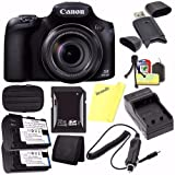 Canon PowerShot SX60 HS Digital Camera 9543B001 + Battery + Charger + 32GB SDHC Card + Small Case + Card Reader + Card Wallet (International Model)