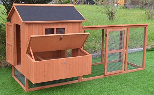Omitree-Large-87-Deluxe-Solid-wood-Hen-Chicken-Cage-House-Coop-Huge-w-Run-nesting-box