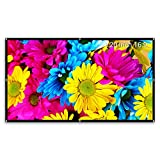 #10: Projector Screen 120 inch 16:9 Indoor & Outdoor Screen ,1.2 Gain Diy Screen for Projector ,Movie ,Home Theater, Classroom , Office ,Camp , Roll Easily ,PVC Fabric By Cheerlux