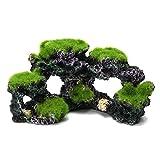 SODIAL Resin Aquarium Coral Reef Moss Rock Fish Tank Marine Island Ornament Cave Decor