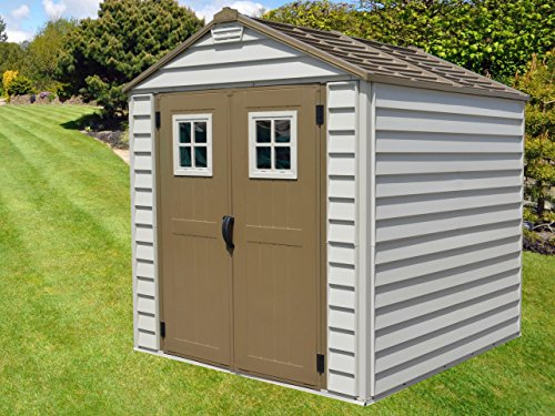 DuraMax Storemax Shed, Ivory With Brown Trim & Doors