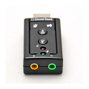 Adaptador de Tarjeta de Sonido Externa USB de Audio 7.1 ...
