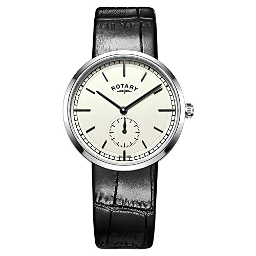 Rotary GS05060-32 Mens Timepieces Canterbury Black Leather Strap Watch