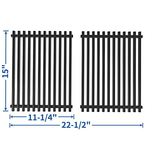 SHINESTAR 15 inch Cooking Grates Replacement for Weber Spirit 210 Grill Grates for Spirit E210 Grill Parts(with Side Control Knobs), 15 x 11 Porcelain Steel 65904 Grates for Spirit 200, Spirit 500