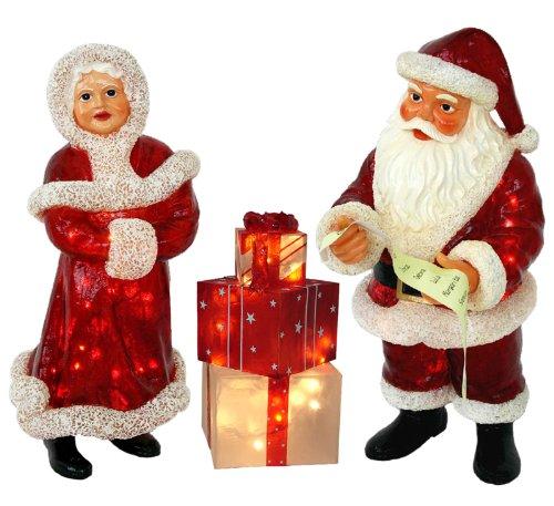 Outdoor Lighted Plastic Santa Claus in US - 9