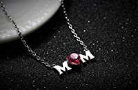 Fancydeli® Christmas Gifts Women Heart Crystal Pendant Necklace for Women Mother Mom