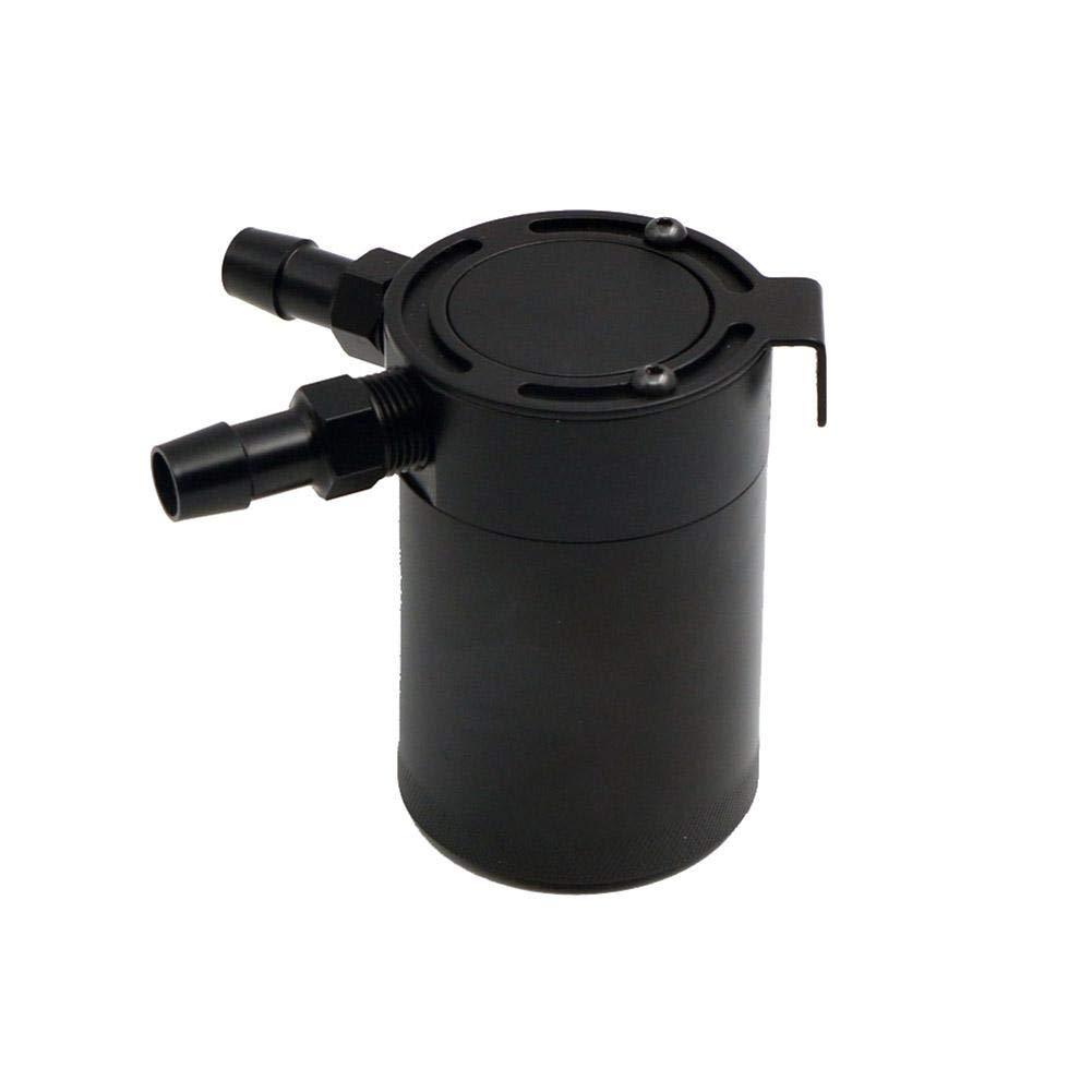 Noir waterfaill R/éservoir Dhuile Embo/îtable Compact /À 2 Ports S/éparateur Huile-air Universel en Aluminium R/éservoir De Reniflard Dhuile De 5 Oz // 150 ML