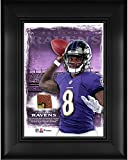 "Lamar Jackson Baltimore Ravens Framed 5"" x 7"" Player Collage with a Piece of Event-Used Football - NFL Player Plaques and Collages"