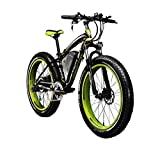 Image of RICH BIT TP012 Electric Fat Bike Mountain Bicycle Snow Bike Cruiser Ebike 1000 Watt Motor 48V 17Ah Lithium-ion Battery 26'' 4.0 inch Fat Tire Suspension Fork Green