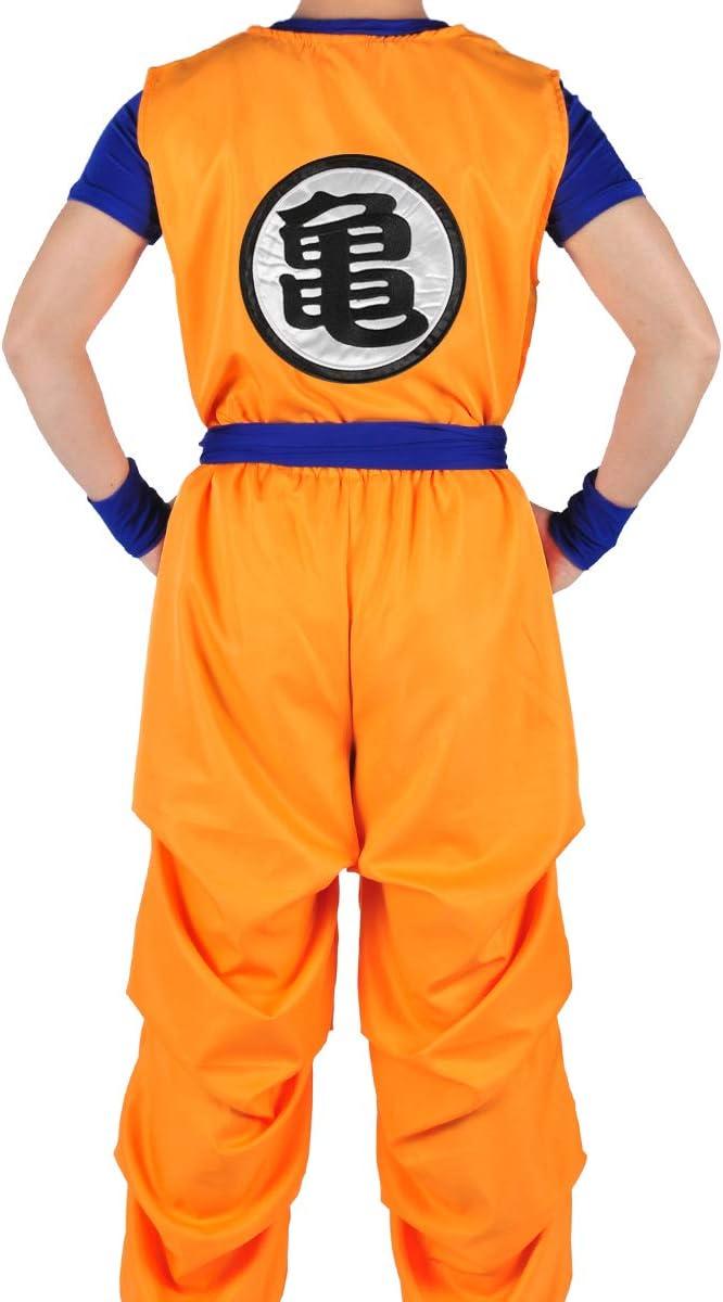 CoolChange Traje de 3 Piezas de Son Goku de La Bola del dragón Las ...