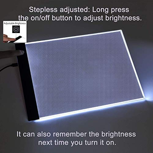 Diamond Painting A5 LED Light Pad Board Tablet Portable Dimmable Brightness, LED Artcraft Tracing Light Pad Light Box for Artists Student Drawing, Must Have for Paint with Diamonds by Imentha (Image #5)