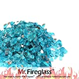 Mr. Fireglass 1/2' Reflective Fire Glass with Fireplace and Fire...