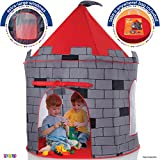 Kids Play Tent Knight Castle - Portable Kids Tent - Kids Pop Up Tent Foldable Into Carrying Bag - Childrens Play Tent For Indoor And Outdoor Use - Kids Playhouse Best Gift For Boys and Girls, Original