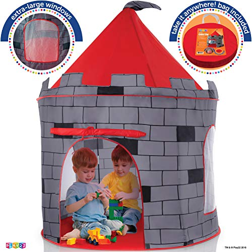 Kids Play Tent Knight Castle - Portable Kids Tent - Kids Pop Up Tent Foldable Into Carrying Bag - Childrens Play Tent For Indoor And Outdoor Use - Kids Playhouse Best Gift For Boys and Girls, Original by Play22