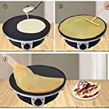 Health and Home Crepe Maker - 13 Inch Crepe Maker & Electric Griddle & Non-stick Pancake Maker-Crepe Pan