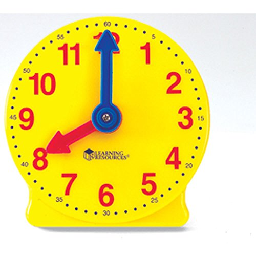 hand2mind Geared Clock to Learn to Tell Time, 4