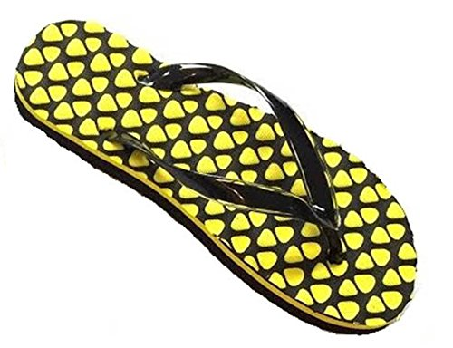 Dames Hart Ontwerp Multi Kleuren Strand Slipper Strand Sandalen Flip Flop Zwart