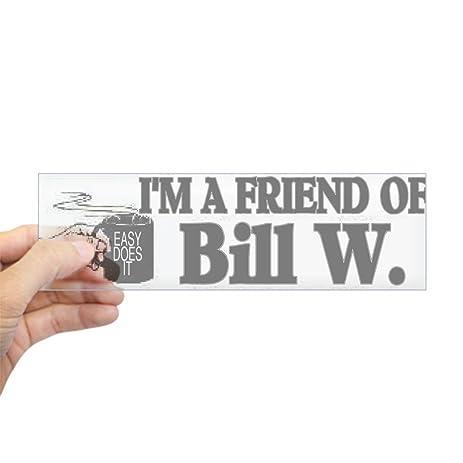Cafepress friend of bill w sticker bumper 10x3 rectangle