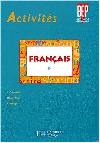 Amazon Fr Activites Francais Bep 2de Professionnelle