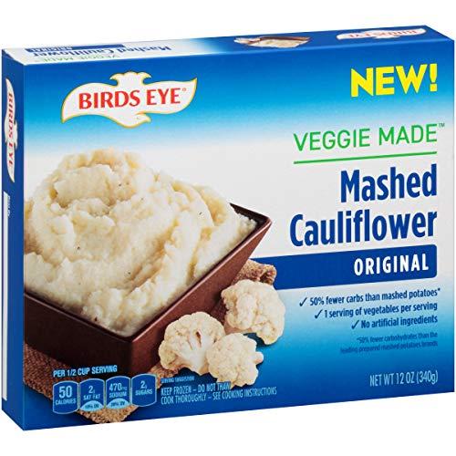Birds Eye Steamfresh Veggie Made, Mashed Cauliflower, Original, Keto Friendly, 12 Ounce (Frozen)