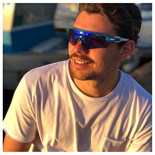 0ea933e2128 FEISEDY Polarized Sports Sunglasses Changeable Lenses TR90 Frame Cycling  Running Fishing Golf Glasses B2280