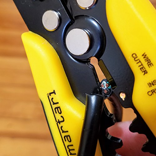 Self-Adjusting Wire Stripper Cutter & Crimper Tool by Smartari | Portable Heavy Duty Pliers Set for Easy One Hand High Precision Industrial & Professional Use with Safety Insulation by Smartari (Image #7)