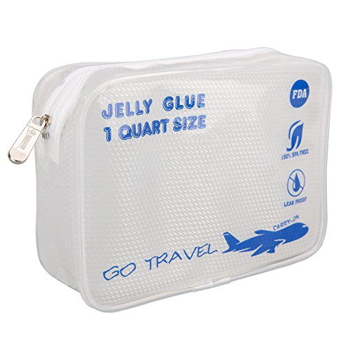 Clear Travel Toiletry Bag-TSA-Approved,1Quart Size ,3-1-1bag, Airport Airline Compliant Bag. XIANGYI (blue) Tsa Quart Bag